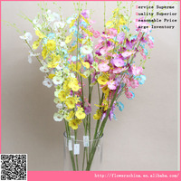 Beautiful single dancing orchid , artificial flower used for house decoration