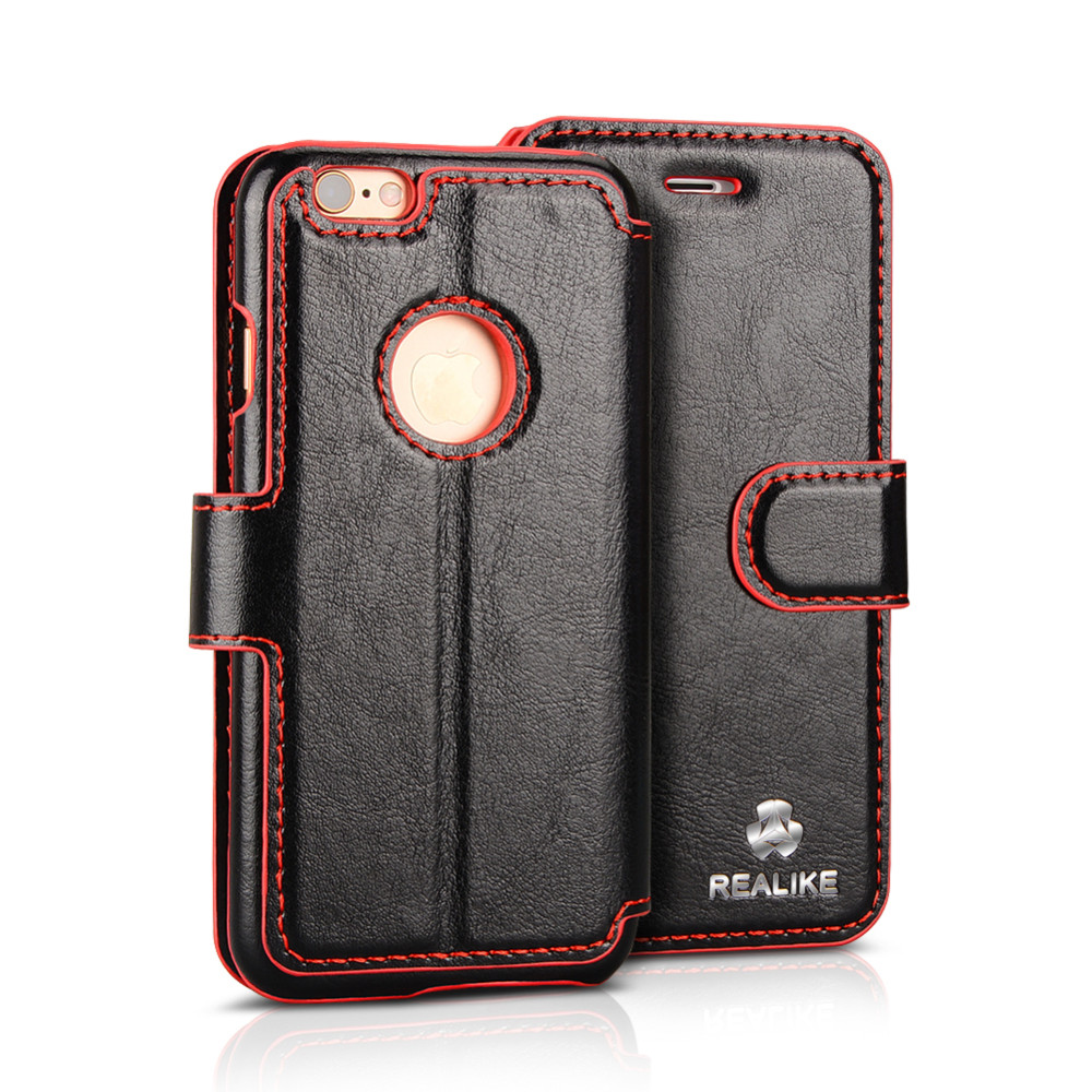 Premium pu leather wallet cell phone case for iphone 6s, cell phone case for iphone 6