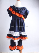 Factory Real Photos Solid Navy Ruffles Dress newborn baby clothing for reseller adult baby girl clothing