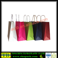 Various sizes paper grocery bags with reinforced bottom