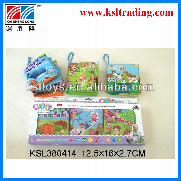 3 IN 1 children funny kids toy cloth books for kids 3PCS