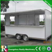 Safe and durable Container for food kiosk,large space food vending cart