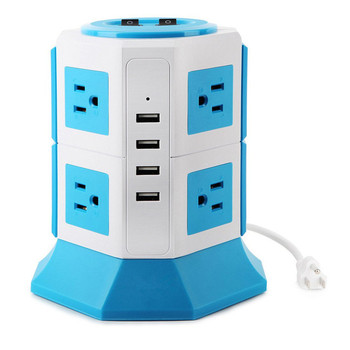 8 Outlet Plugs with 4 USB Slot USB Power Extension Socket, Surge Protector Electric Charging Station