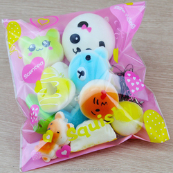 shenzhen factory 10 20 30 Pack Jumbo Medium Mini Random PU Slow Rebound Cake Bread Squishy Soft Toys For Kids