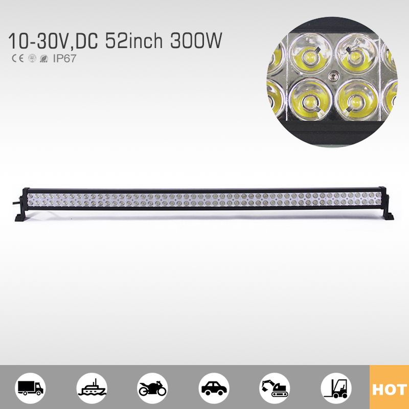 Wholesale spot 52 inch led light bar for 4wd offroads