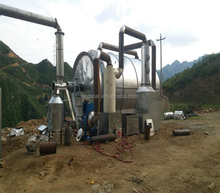 High oil output continuous waste tyre to fuel oil recycling pyrolysis line