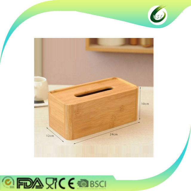 cheap bamboo wooden tissue box wholesale