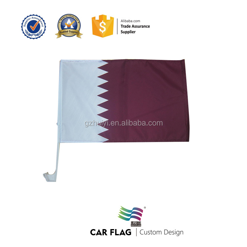Wholesale Qatar Car Flag Stickers For Fans Sports
