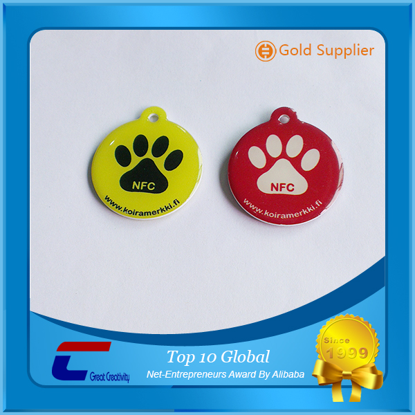 factory cheap waterproof NFC Custom dog tags