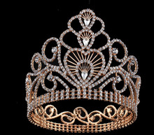 large full round rhinestone crystal silver pageant <strong>crowns</strong> for sale