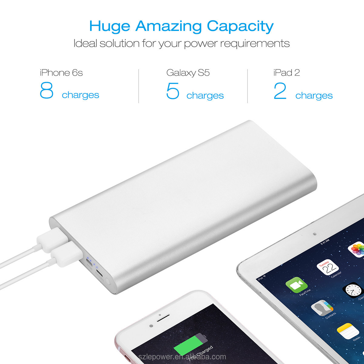 New Products High Quality Mobile Phone Power Bank 20000mah Slim Portable Charger
