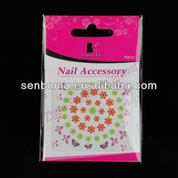 2013 Newly Colorful Flower & Butterfly finger nail stickers
