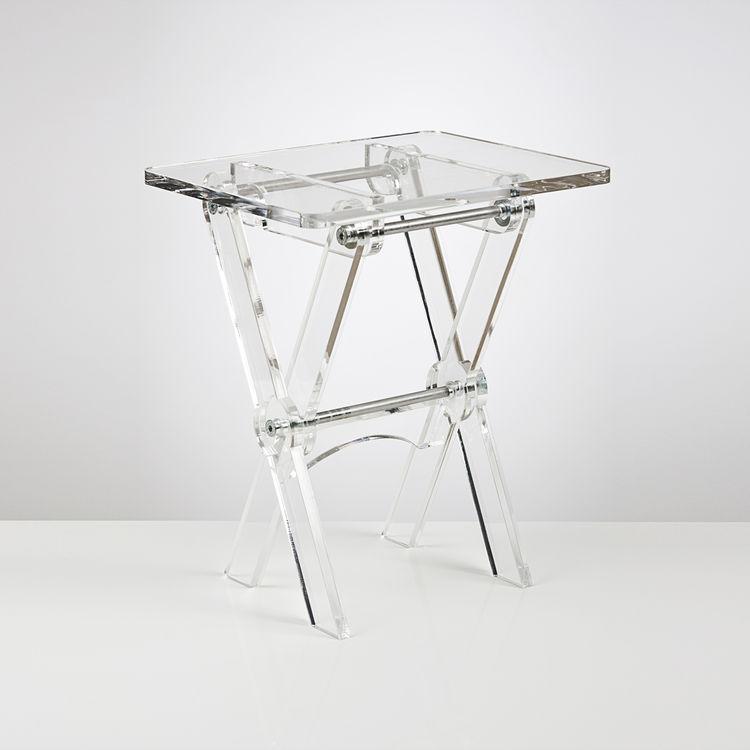 Clear Acrylic Tv Tray Or Folding Coffee Table Buy