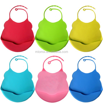 High quality wholesale 100% food grade silicone baby bib manufacturer in China