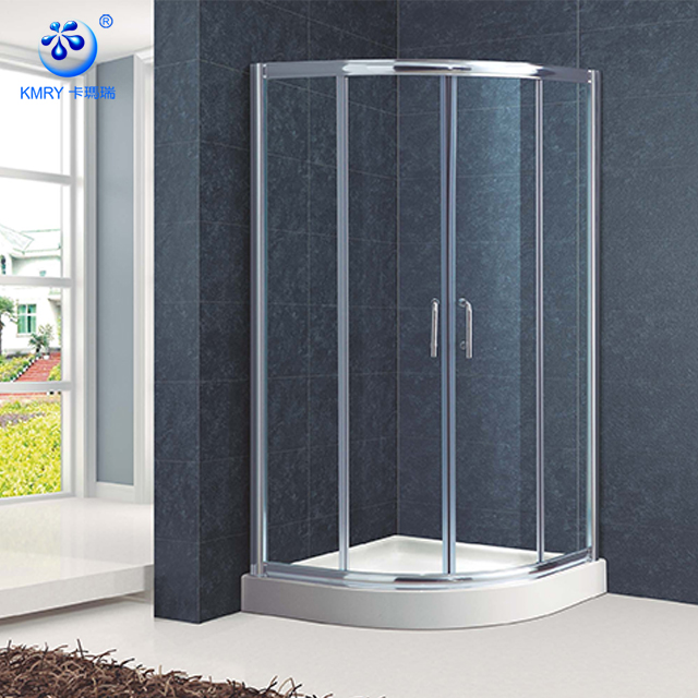 Fan Shape Aluminum Framed Sliding Cheap Corner Shower Door (KT6009)