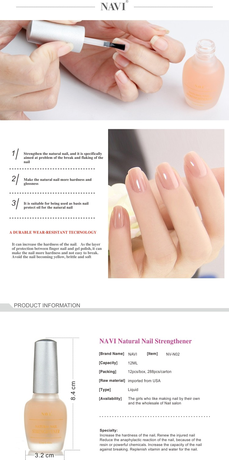 NAVI 12ML Wholesale Natural Nail Strengthener for Nail art care