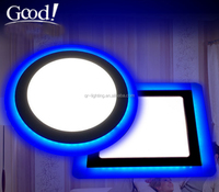 Hot sale Round 3w+3w double color led panel light 2 years warranty