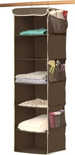 Alibaba top recommend 6/10 Shelves Hanging Shoe Organizer Fabric Bronze Shelves