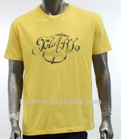 Short sleeve men's t shirt iron on letters