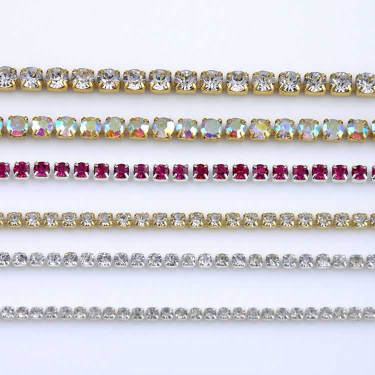 Low price beautiful rhinestone strass trim with crystal stone for garment