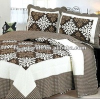 Stock Brown Printed Cheap Quilt AY1126