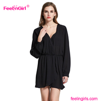 Pure black elastic waist korean dresses new fashion maternity dress women sexy