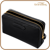 new style personalized travel cosmetic bag black leather cosmetic case travel cosmetic organizer