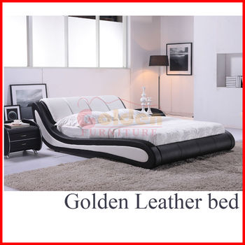Golden Leather Bed : ... leather beds in china, happy night Product Details from Foshan Golden