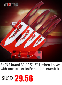 XYJ ceramic knife set 3'' paring 4'' utility 5''slicing 6'' chef kitchen knives kitchenware cooking tools hot sales best gift