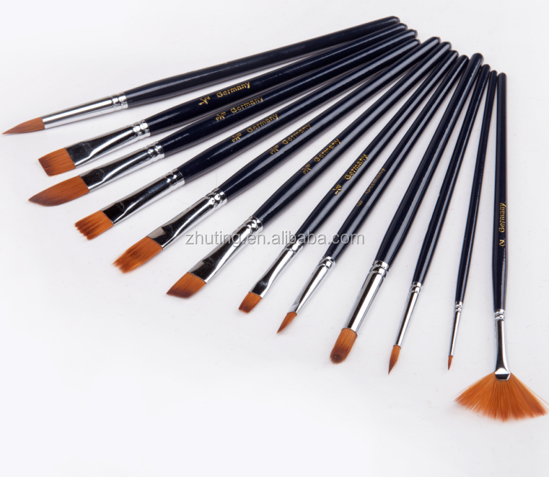 12 pcs professional art tools wholesale multipoint artist for Wholesale craft paint brushes