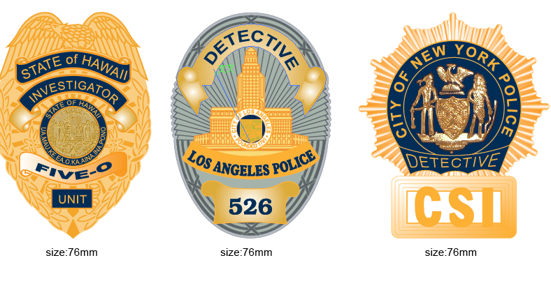 custom private security officer magnetic metal badges