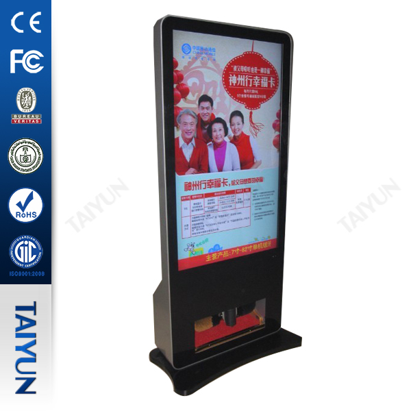 "42"" IR touch Wifi Digital Signage Totem With Waste Bin"