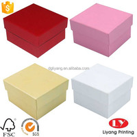 custom plain printed jewelry gift Packaging cardboard Boxes with lid