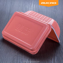 china suppliers safe dividing disposable PP plastic lunch bento container box