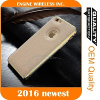 wholesale simple mobile phone leather cover case hard dot view case for iphone 6s
