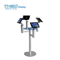 Free standing 360 degree rotated iPad Metal Display Floor Stand For Consumer Electronics