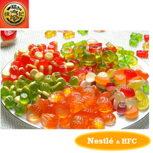 HFC gummy candy in animal shape with mixed fruit flavours