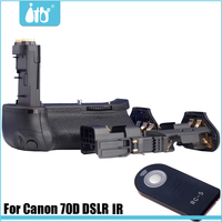 70D DSLR battery grip for Canon with IR infrared remote control 2LP-E6 battery