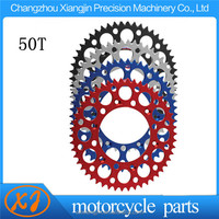 High Quality alloy 7075 T6 150cc motorcycle sprocket with high quality