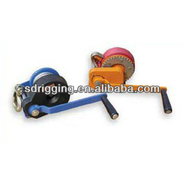 Hand winch portable small winch