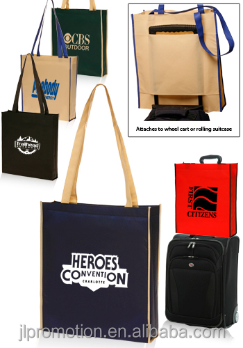 Non-Woven Convention Tote Bags Cheap Custom Printed Non Woven Convention Tradeshow Tote Bags