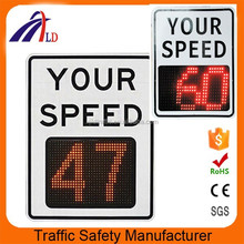Radar speed detector control warning solar LED signs