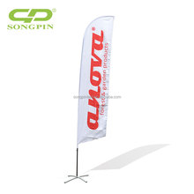 2017 Guangzhou Factory Wholesale custom promotional feather Digital printed advertising banner flags