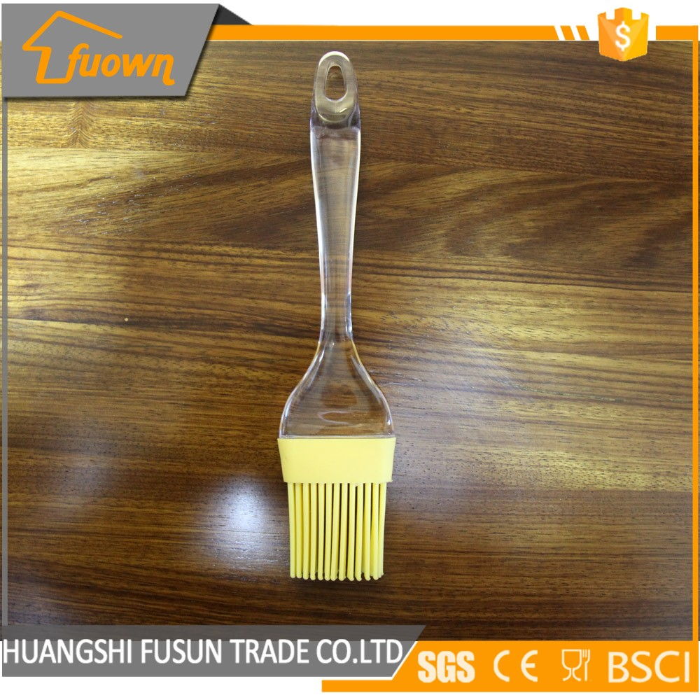 12 cm stainless steel handle FDA food grade silicone BBQ basting brush