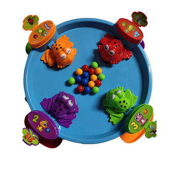 2019 Amazon Novel kids game toy Eat Beads Feeding Hungry Frog toy