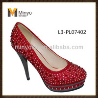 Minyo Wedding Shoe Best Quality High Heel Close Toe for Lady