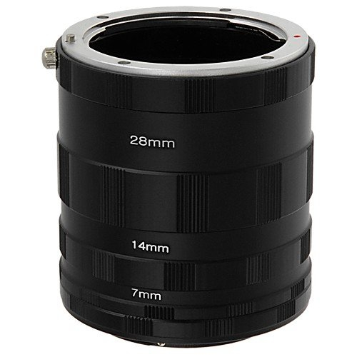Macro Extension Tube Set Extreme Close-Ups for Canon EOS Camera