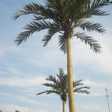 Environmental Friendly Plastic Artificial Outdoor Fake Vertical Coconut Palm Trees Decorative Artificial Plant