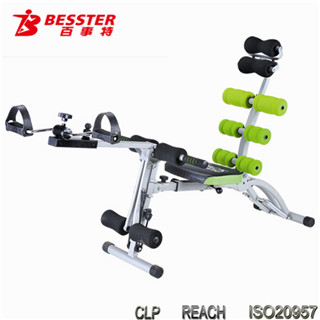 BEST JS-060SC New 8 PACK CARE hot selling mini exercise bike for disabled nautilus gym leg equipment ab trainer