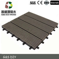 Chinese style wpc diy tiles easy install outdoor floor